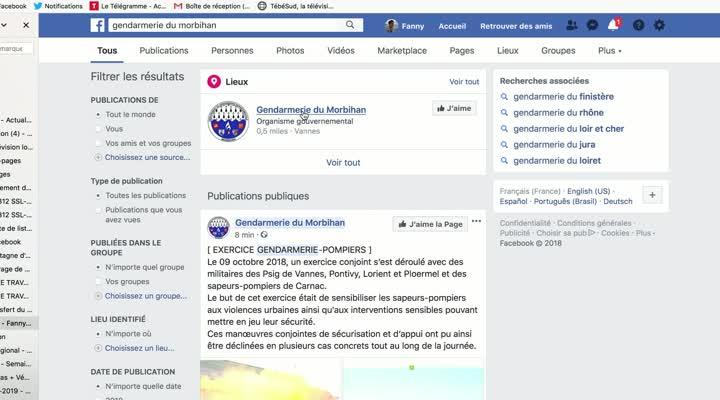 Thumbnail Dans le Morbihan, le colonel de gendarmerie dialogue sur facebook