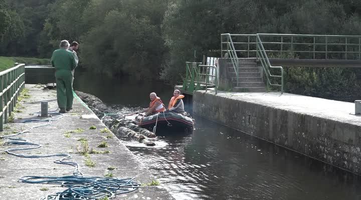 Thumbnail Canal de Nantes à Brest : 1ère expérimentation de transport de bois par flottaison