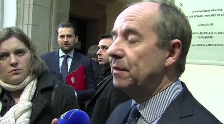 Thumbnail Jean-Jacques Urvoas inaugure l'extension du Palais de justice de Quimper