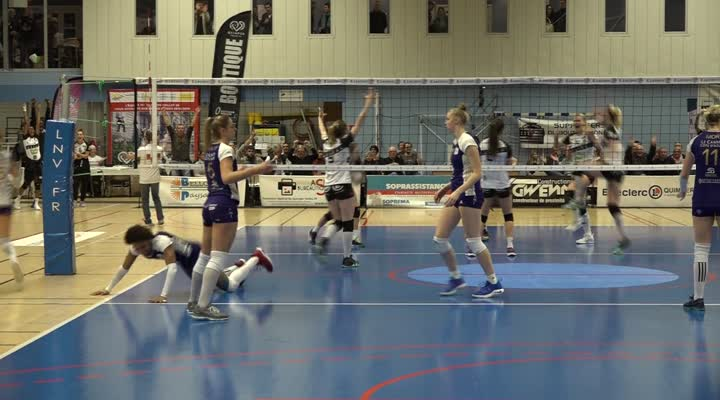 Thumbnail Volley (LAF). Quimper frôle l'exploit