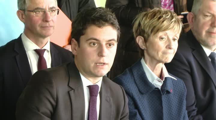Thumbnail Visite du secrétaire à la jeunesse Gabriel Attal à Lorient