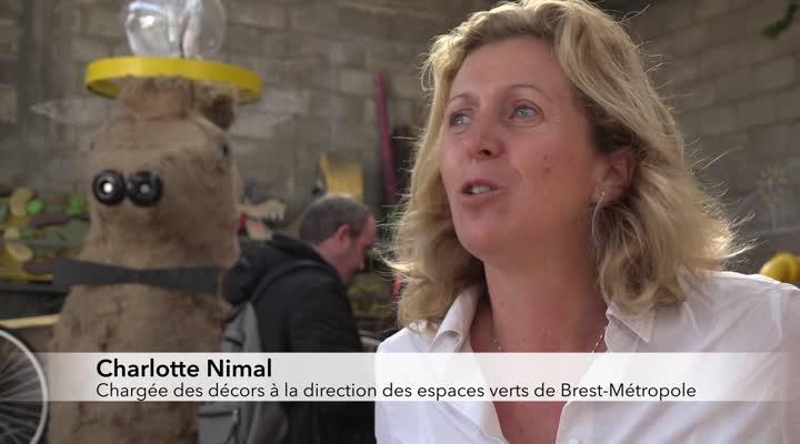 Thumbnail Les jardiniers de Brest décorent l'espace public