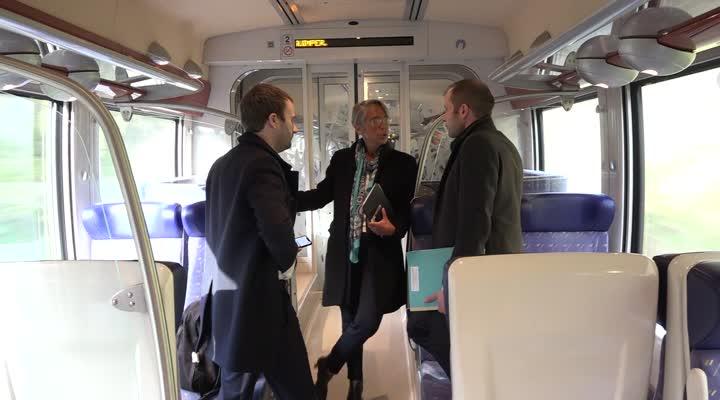 Thumbnail Elisabeth Borne, ministre des Transports est en visite en Finistère