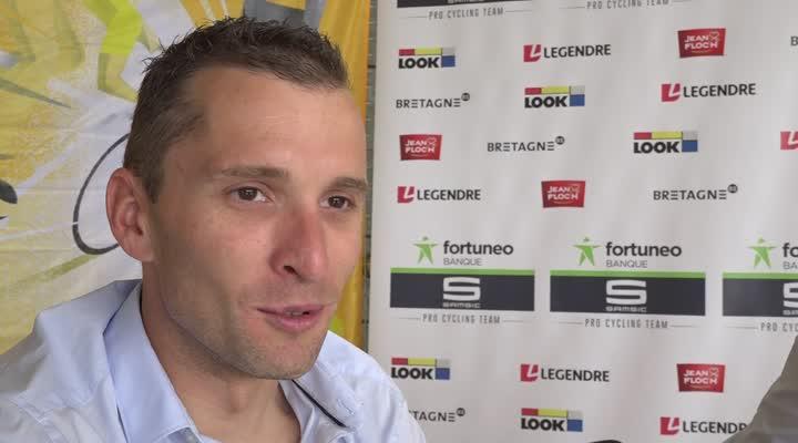 Thumbnail Tour de France : Laurent pichon de Fortuneo Samsic à la rencontre du public