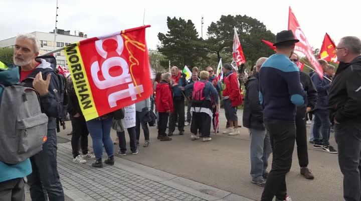 Thumbnail Retraites : 600 personnes mobilisées à Lorient