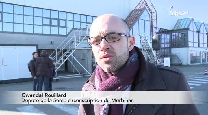 Thumbnail Près de 200 personnes mobilisées pour l'aéroport de Lorient