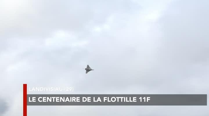 Thumbnail Survol des rafales de la 11 F à Landivisiau