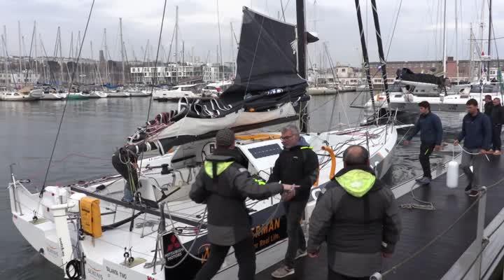 Thumbnail Route du Rhum : les skippers font le dos rond