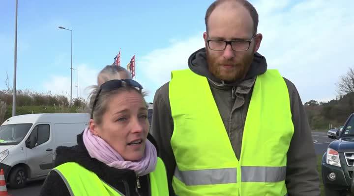 Thumbnail Gilets jaunes : A Brest, le mouvement continue ce lundi