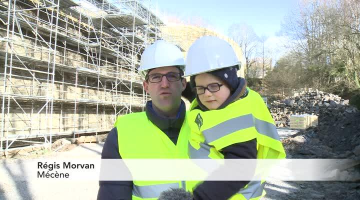 Thumbnail Les mécènes du château de Pontivy constatent l'avancée du chantier