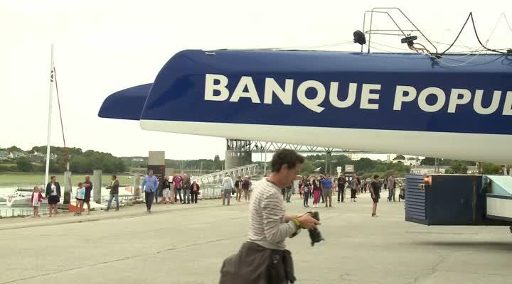 Thumbnail Banque Pop IX remis à l'eau : Le Cléac'h lance son sprint